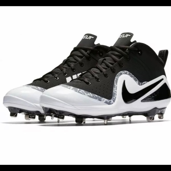 brand new e24be 0d259 Nike Force Zoom Trout 4 Black Mens Metal Cleats